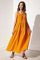 Женское летнее хлопковое оранжевое платье S_ette S5034 оранжевый 42р.