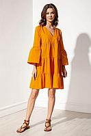 Женское летнее хлопковое оранжевое платье S_ette S5038 оранжевый 42р.