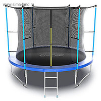 Батут EVO JUMP Internal, d=305 см, с внутренней защитной сеткой и лестницей, цвет синий