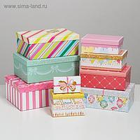 Набор подарочных коробок 10 в 1 «Торт», 32.5 × 20 × 12.5 12 × 7 × 4 см