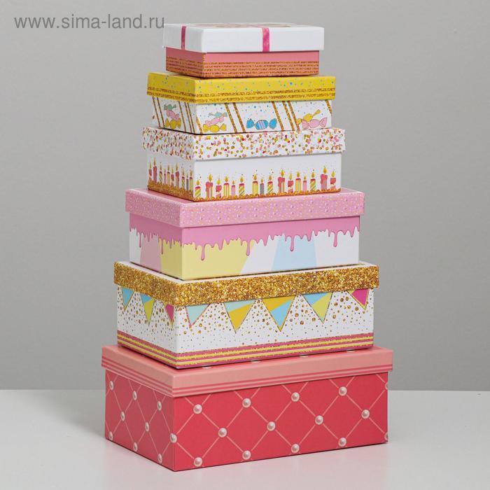 Набор подарочных коробок 10 в 1 «Торт», 32.5 × 20 × 12.5 12 × 7 × 4 см - фото 2