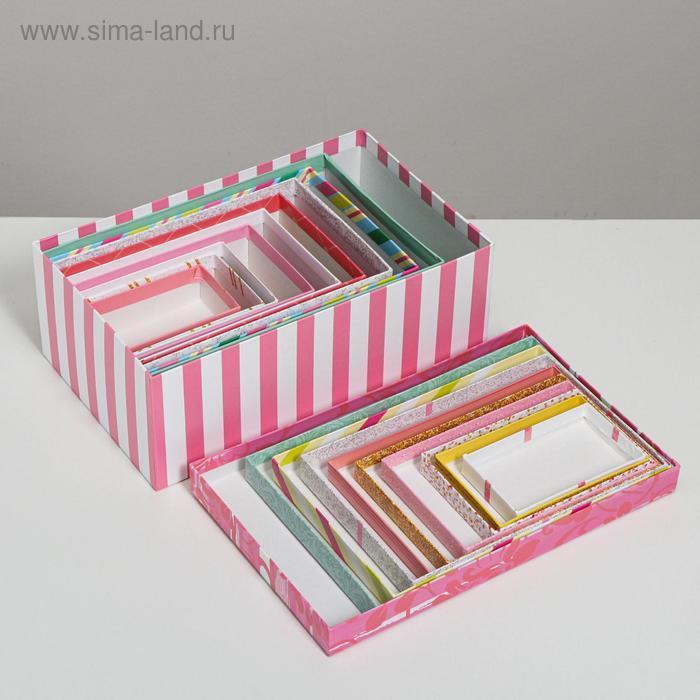 Набор подарочных коробок 10 в 1 «Торт», 32.5 × 20 × 12.5 12 × 7 × 4 см - фото 7