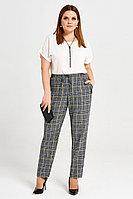 Женские осенние серые деловые большого размера брюки Панда 37160z мультиколор 50р.