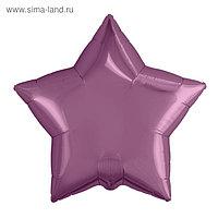 """Шар фольгированный 21"""", звезда, цвет пурпурный"""
