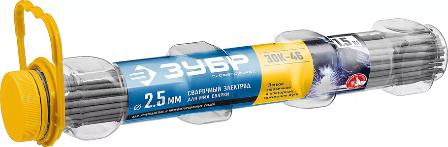 Электрод сварочный ЗОК-46, ЗУБР, рутиловый, прочность шва не менее 510 МПа, для сварки в любых направлениях, d, фото 2