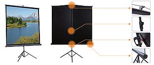 "Экран на треноге Mr.Pixel 70"" x 70"" (MSPSDB96V2)"