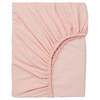 Простыня натяжная ДВАЛА 160х200 светло-розовый ИКЕА, IKEA