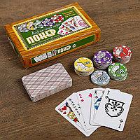 Покер, набор для игры, карты 52 листа, фишки 88 шт