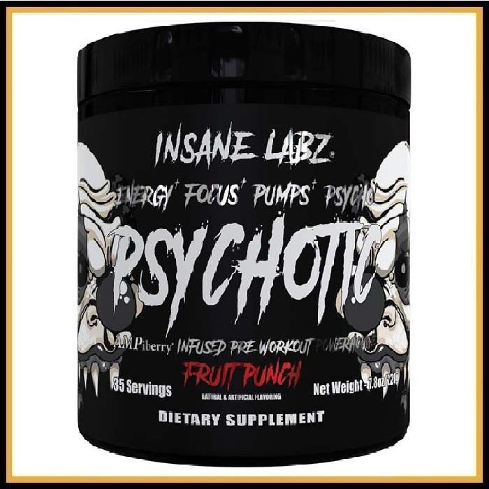 Insane Labz Psychotic BLACK 220гр (фруктовый пунш)