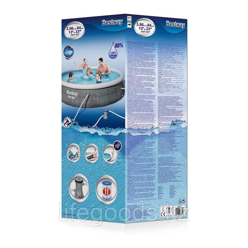 Надувной бассейн Bestway 57376 с фильтр-насосом 396х84 см - фото 3