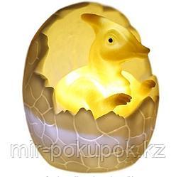 3D ночник динозаврик в яйце.