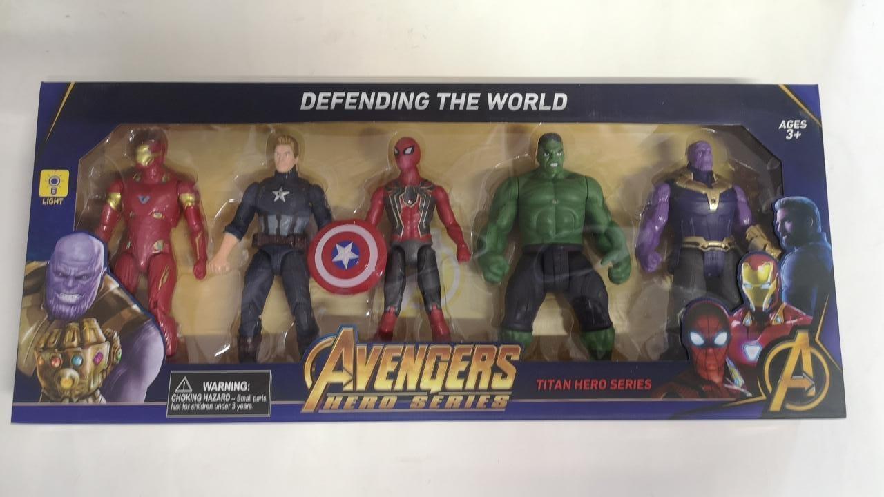 Набор супергероев Марвел, 5 героев - фото 1
