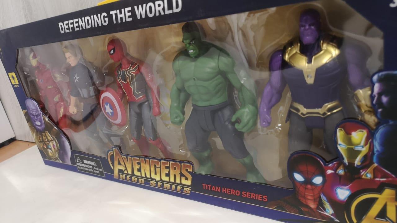 Набор супергероев Марвел, 5 героев - фото 2