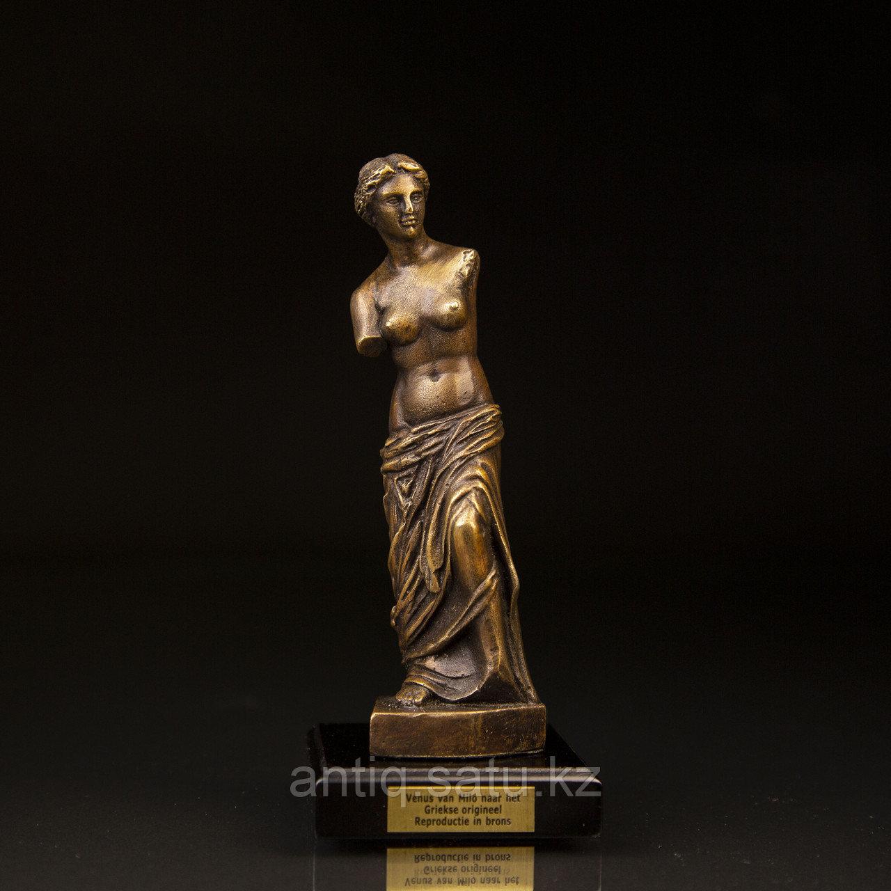 Коллекционная миниатюра «Венера Милосская». Бронза, литье Имеется сертификат. Франция. Конец ХХ века. - фото 1