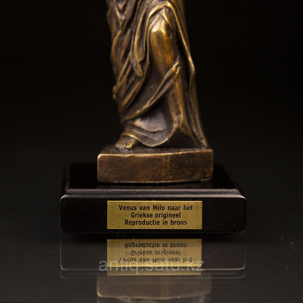 Коллекционная миниатюра «Венера Милосская». Бронза, литье Имеется сертификат. Франция. Конец ХХ века. - фото 7