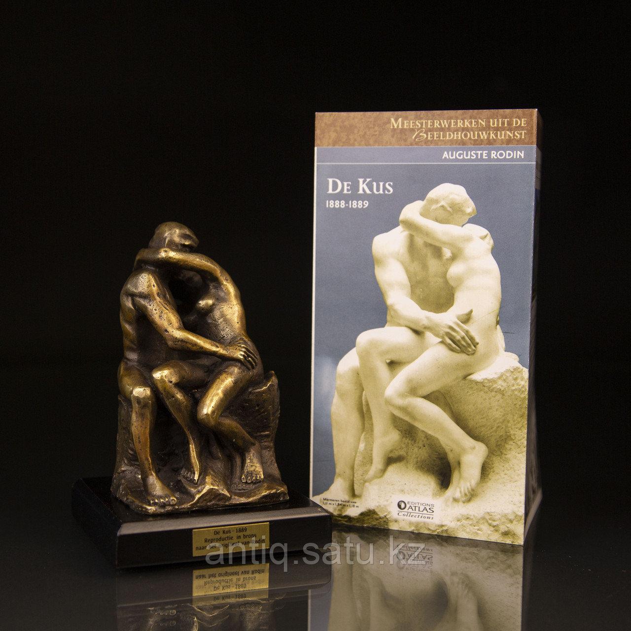 Коллекционная миниатюра «Поцелуй» По модели Огюста Родена Бронза, литье. Производитель Edition Atlas - фото 3