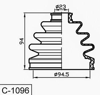 Пыльник Пыльник гранат C-1096 Terrano II VANETTE LARGO 4WD  наружный