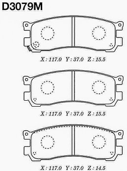 Тормозные колодки Mazda A242W Bongo Friendy FG# 95- , MPV LV#, LW# зад. 1994-1999 задние дисковые