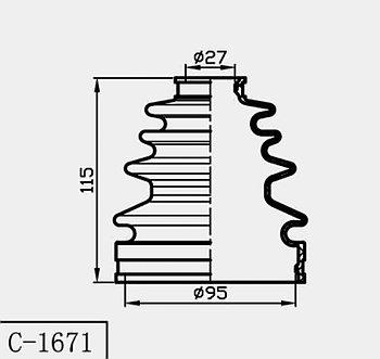 Пыльник Пыльник гранат C-1671 Land cruiser LC100, LX470 1998-2007 внутренний