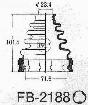 Пыльник Пыльник гранат FB2188 Camry 2,4 ACV30 EUR USA 2003-2011 внутренний