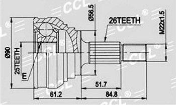 ШРУСы(граната) Audi AD-002A 100 C3 1,6-2,3 1982-1988 наружный правый и левый