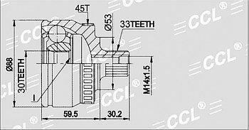 ШРУСы(граната) Audi AD-011A A4 B5 1,8/2,0, Passat B5 1995-2001 наружный правый и левый