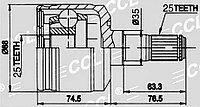 ШРУСы(граната) Hyundai MI-505 Sonata II 2,0 1994-1998 внутренний правый