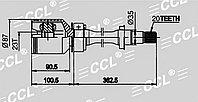 ШРУСы(граната) Toyota TO-509 Carina E, Caldina ST190 2WD 2,0L(3SFE) 1991-2001 внутренний правый