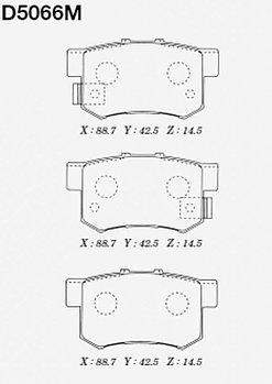 Тормозные колодки Honda CD5066M Accord CM1, 2, 3, CW2, CR-V RD4, 5, 6, 7, RE3, 4, OdysseyRA1, 2, 3, 4, 5, RA6,
