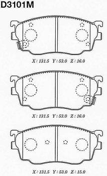 Тормозные колодки Mazda PN5418 Capella 626 GF 1997-2002 передние