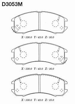 Тормозные колодки Mazda D3053 Capella 626 GD 1987-1994 передние