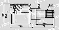ШРУСы(граната) Honda HO-546 Fit City CD6 2001-2009 внутренний правый и левый