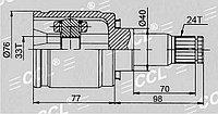 ШРУСы(граната) Mitsubishi MI-576 Lancer X CY 2007- внутренний правый