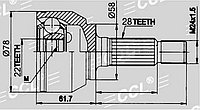 ШРУСы(граната) Mazda MZ-054 Mazda 3 1,6 2003-2009 наружный правый и левый