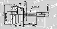 ШРУСы(граната) Toyota TO-080 RAV4 ACA33 2,0/2,4 2006-2012 наружный правый и левый