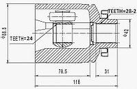 ШРУСы(граната) Mitsubishi MI-587 Diamante II F36A 3,0, SANTA FE I 3,5 USA 1995-2001 внутренний правый