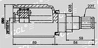 ШРУСы(граната) Opel OP-536 Chevrolet Aveo (T250), ZAZ Chance 2003-2013 наружный правый и левый