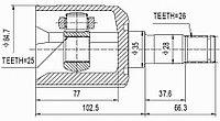 ШРУСы(граната) Mazda MZ-504 Capella 626 GD 2,0/ 2,2 1987-1994 внутренний левый