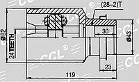 ШРУСы(граната) Mazda MZ-571 5 CR 2005-2010 внутренний правый