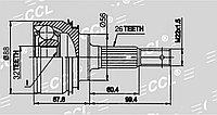 ШРУСы(граната) Toyota TO-024 Camry SXV10 2,2 USA, Scepter SXV10 2,2, Carina-E 1,6/ 2,0 (UK) 1991-1998 наружный