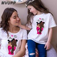Одинаковые футболки для мамы и дочки (цена за женскую футболку)