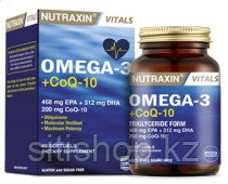 Nutraxin Omega 3 + CoQ-10,  60 капсул