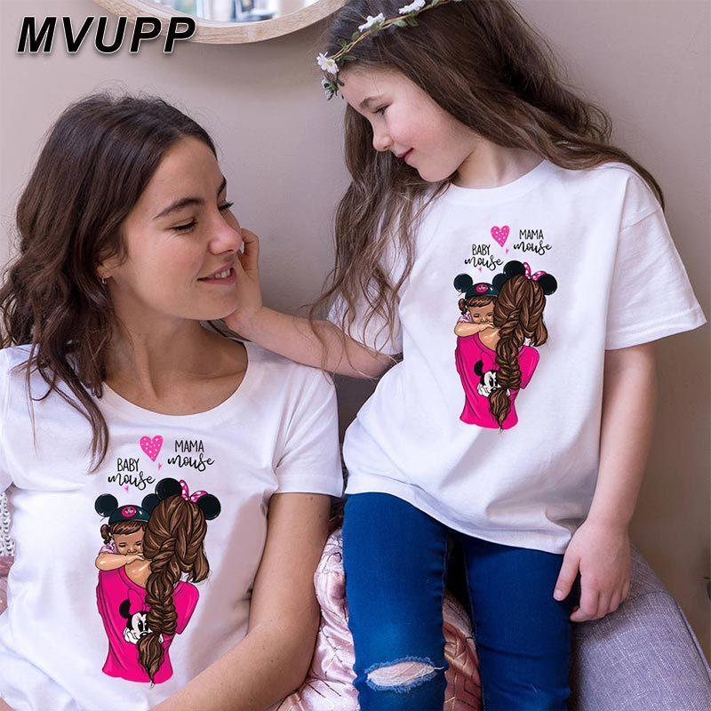 Одинаковые футболки для мамы и дочки (цена за детскую футболку)