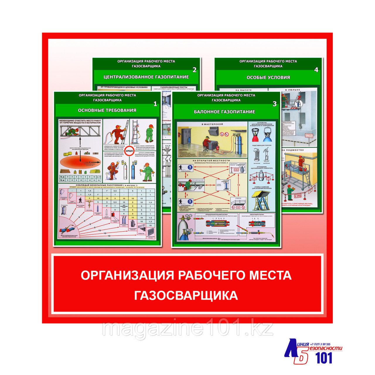 """Плакаты """"Организация рабочего места газосварщика"""""""
