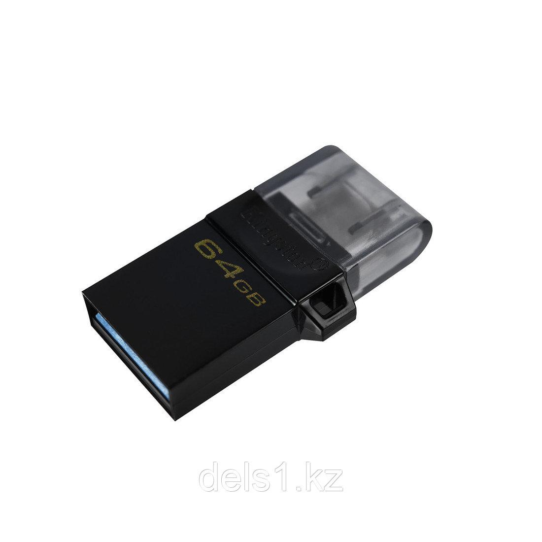 USB-накопитель Kingston DTDUO3G2/64GB 64GB Чёрный
