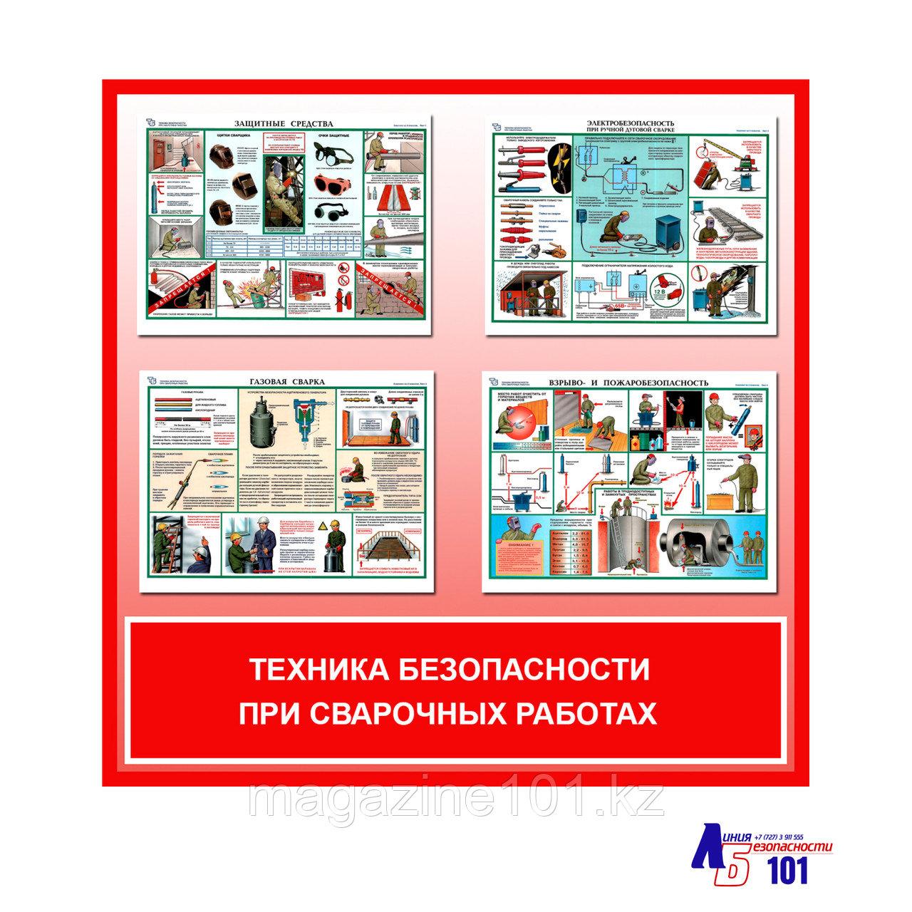 """Плакаты """"Техника безопасности при сварочных работах"""""""
