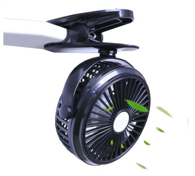 Мини-вентилятор Mini Fan с аккумулятором на прищепке для авто и дома.