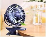 Мини-вентилятор Mini Fan с аккумулятором на прищепке для авто и дома., фото 6