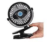 Мини-вентилятор Mini Fan с аккумулятором на прищепке для авто и дома., фото 8