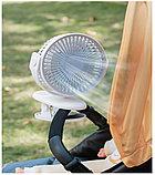 Мини-вентилятор Mini Fan с аккумулятором на прищепке для авто и дома., фото 9